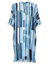 John Lewis Kin By Painted Lines Oversized Dress Blue
