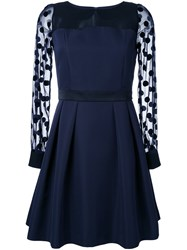 Guild Prime Sheer Sleeve Dress Blue