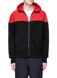 Rag And Bone 'Precision' Colourblock Zip Hoodie Multi Colour