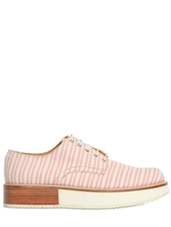 Mobi 30Mm Ministriped Canvas Lace Up Shoes Pink