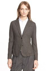 Eleventy Lightweight Wool Blend Blazer Brown