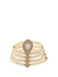 Anissa Kermiche Diamond Mother Of Pearl And Pearl Ring Yellow Gold