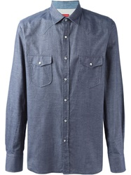 Jacob Cohen Western Shirt Blue