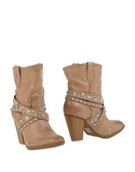 Francesco Milano Ankle Boots Beige