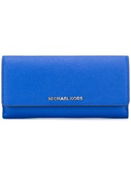 Michael Michael Kors Flap Closure Wallet Blue