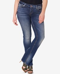 Silver Jeans Co. Plus Size Tuesday Dark Wash Bootcut Indigo