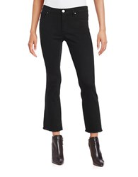 Design Lab Lord And Taylor Frayed Five Pocket Cropped Pants Black
