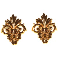 Alice Joseph Vintage 1980S Christian Dior Flower Stud Earrings Gold