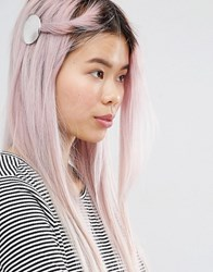 Monki Disc Hair Clip Silver