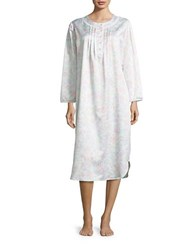 Miss Elaine Printed Lace Trimmed Nightgown Pink