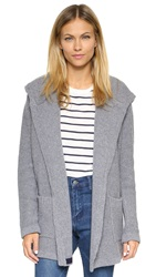Chinti And Parker Hooded Cardigan Grey Marl Navy