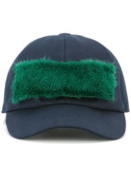 Msgm Furry Panel Cap Blue
