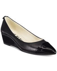 Anne Klein Valicity Wedge Dress Pumps Black