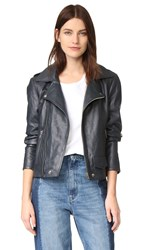 Oak La Rebel Leather Jacket Dusk