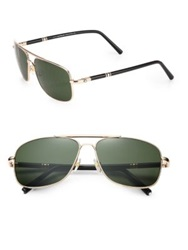 Montblanc 60Mm Metal Navigator Sunglasses Gold Black