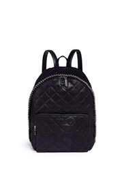 Stella Mccartney 'Falabella' Quilted Faux Leather Chain Backpack Black