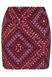Tribal Centre Panelled Skirt By Annie Greenabelle Berry Red