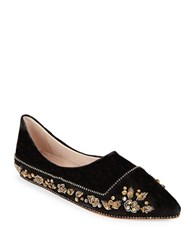 Free People Parissa Suede Pointed Toe Flats Black