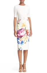 Ted Baker Women's London 'Tapestry Floral' Belted Print Midi Sheath Dress