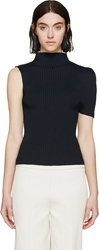 J.W.Anderson Navy Ribbed Cocoon Top