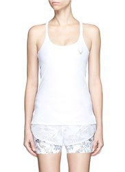 Lucas Hugh 'Core Performance' Cross Back Tank Top White