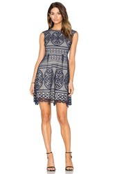 Lumier Lady Like Fit And Flare Dress Navy