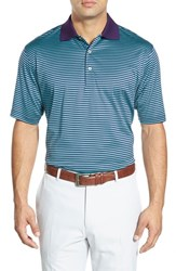 Men's Peter Millar 'Classic Stripe' Short Sleeve Polo Cabernet