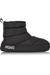 Marc By Marc Jacobs Galaxy Fleece Lined Quilted Shell Boots Black