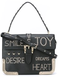Red Valentino Studded Shoulder Bag Black
