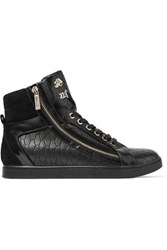 Just Cavalli Quilted Leather Sneakers Black