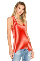 Heather Racer Back Tank Orange