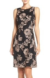 Ivanka Trump Women's Embroidered Mesh A Line Dress