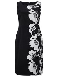Precis Petite Floral Shift Dress Black White