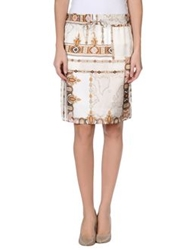 Alviero Martini 1A Classe Knee Length Skirts Beige