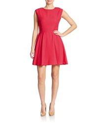 Dex Open Back Fit And Flare Dress Hibiscus