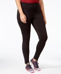 Ideology Plus Size Space Dyed Lined Leggings Only At Macy's Noir