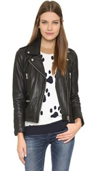Paul And Joe Sister Cabriolet Leather Moto Jacket Black