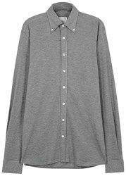 Oscar Jacobson Harry Grey Cotton Jersey Shirt