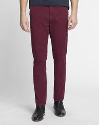 Scotch And Soda Burgundy Stuart Slim Fit Chinos With Belt