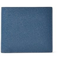 Thom Browne Pebble Grain Leather Billfold Wallet Blue