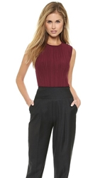 Torn By Ronny Kobo Charly Tank Top Burgundy
