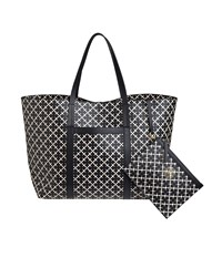 By Malene Birger Trinolas Monogram Black And Cream Tote Bag