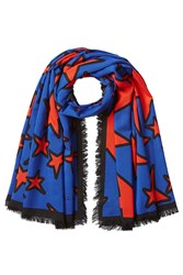 Marc Jacobs Printed Scarf With Wool Multicolor