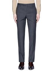 Boglioli Mini Check Textured Virgin Wool Pants Grey