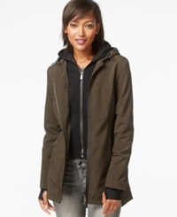Dkny All Weather Soft Shell Jacket With Vest Loden