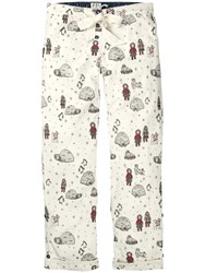 Fat Face Eskimo And Igloo Pyjama Bottoms Ivory