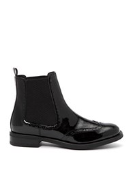 Aquatalia By Marvin K Idalah Patent Leather Booties Black