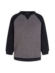 Mela Loves London Colour Block Sweatshirt Grey