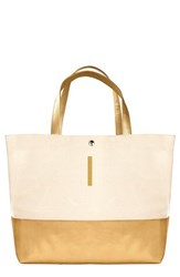 Cathy's Concepts Personalized Canvas Tote Metallic Gold I