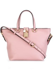 Dolce And Gabbana Small 'Dolce' Shopper Tote Pink And Purple